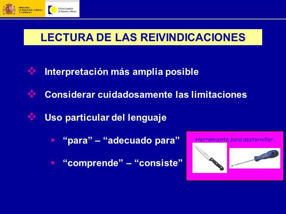 LECTURA DE LAS REIVINDICACIONES