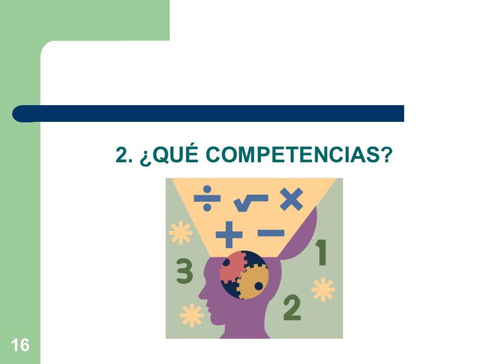 2. ¿QUÉ COMPETENCIAS