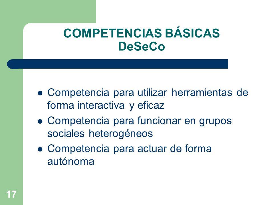 COMPETENCIAS BÁSICAS DeSeCo