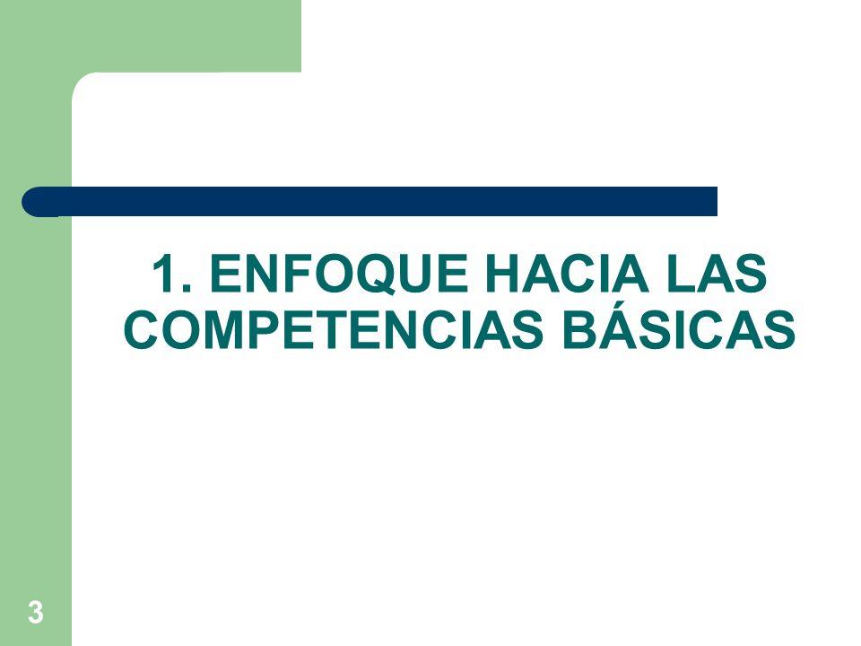 1. ENFOQUE HACIA LAS COMPETENCIAS BÁSICAS