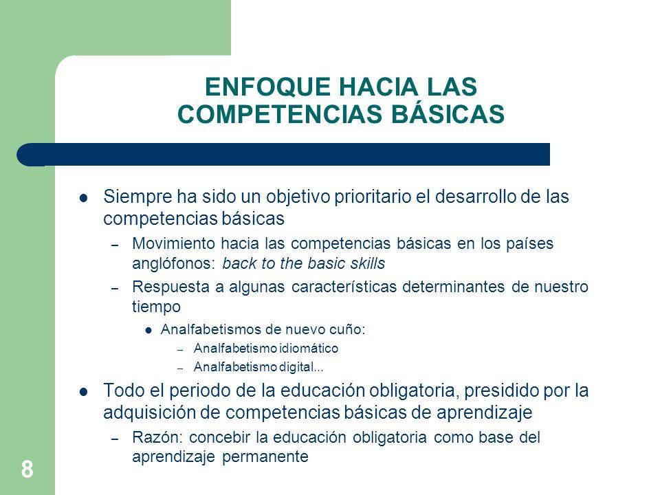 ENFOQUE HACIA LAS COMPETENCIAS BÁSICAS