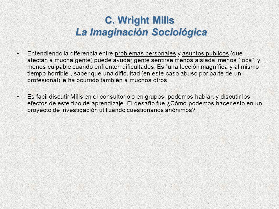 C. Wright Mills La Imaginación Sociológica