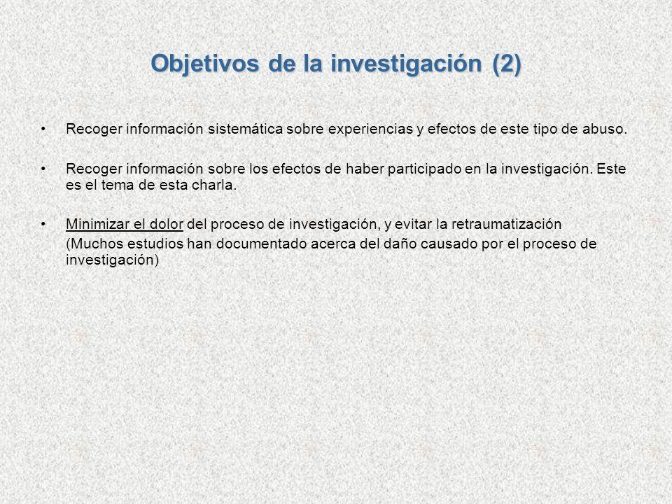 Objetivos de la investigación (2)