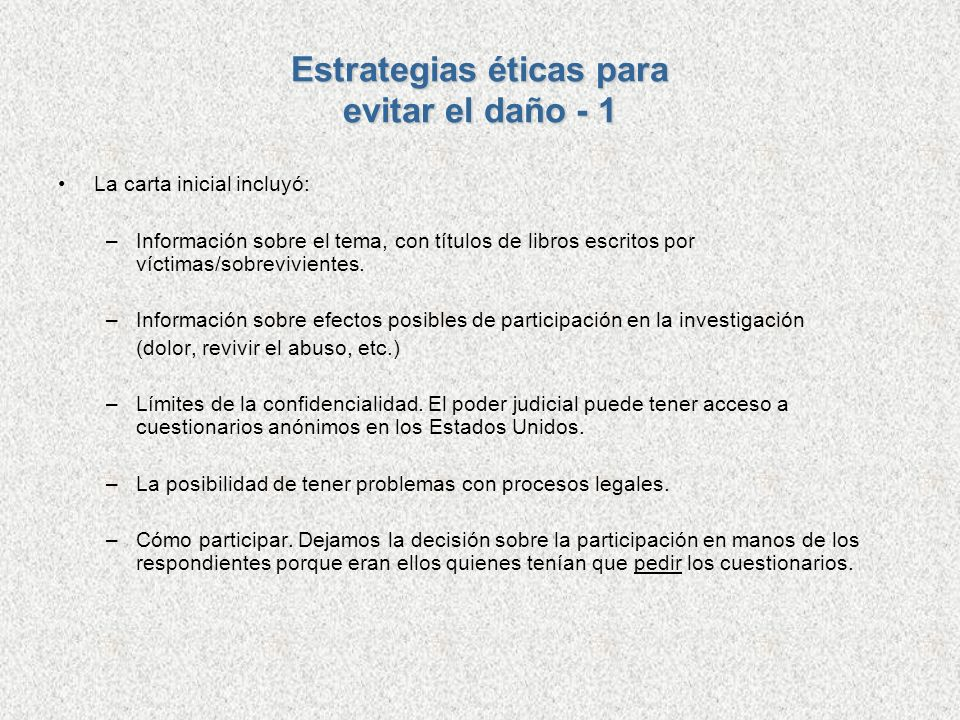 Estrategias éticas para evitar el daño - 1