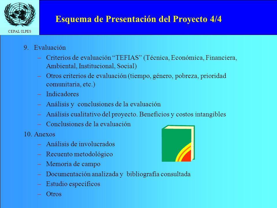 Esquema de Presentación del Proyecto 4/4