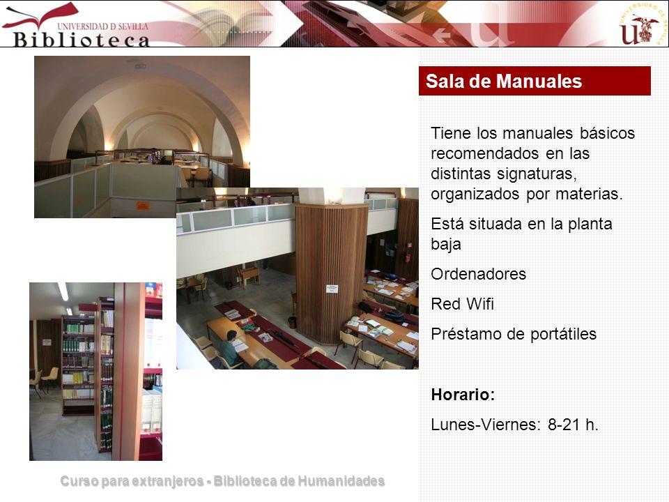 Curso para extranjeros - Biblioteca de Humanidades