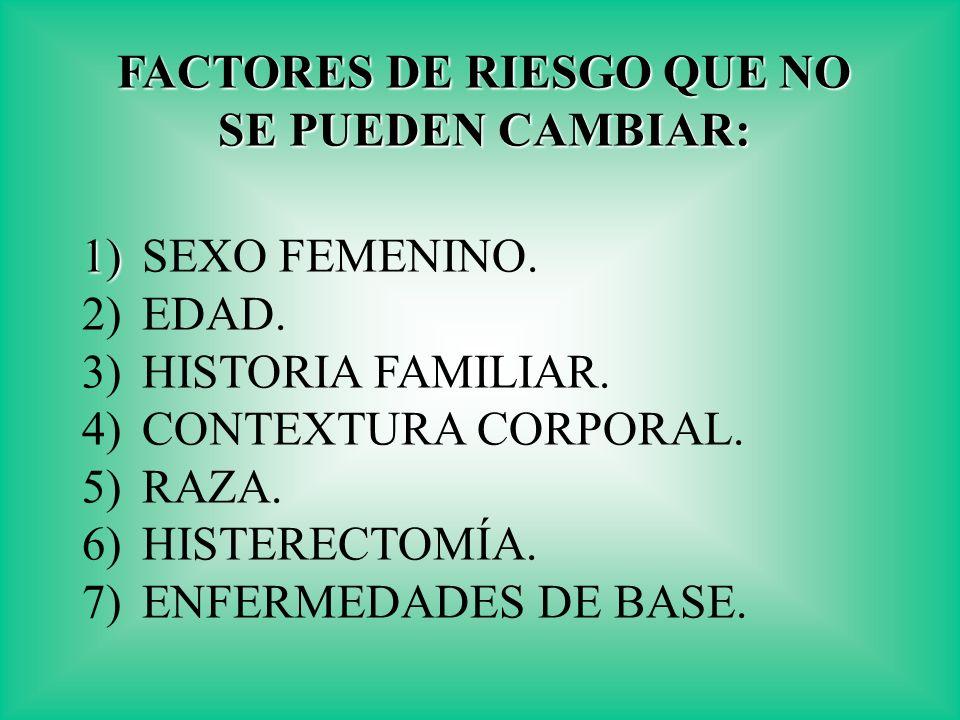 FACTORES DE RIESGO QUE NO