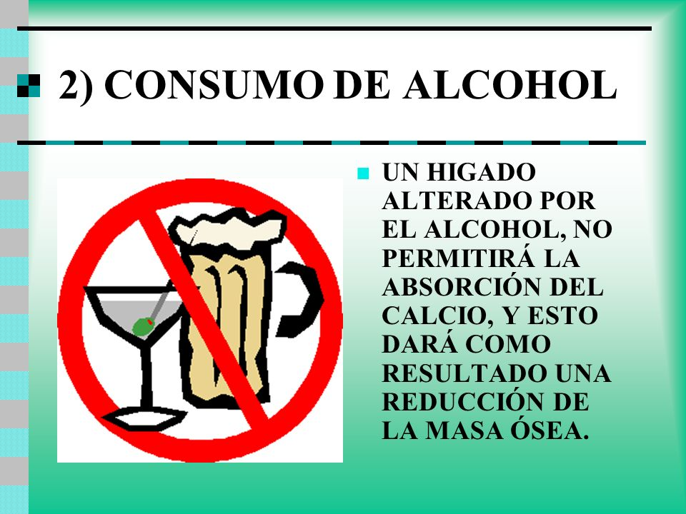2) CONSUMO DE ALCOHOL