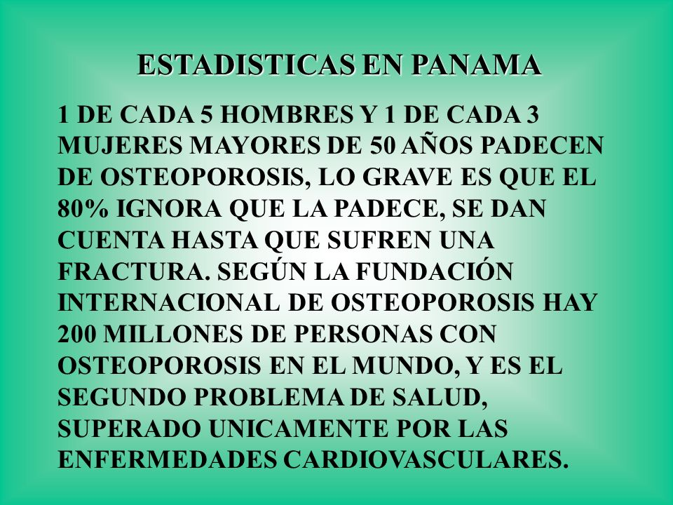 ESTADISTICAS EN PANAMA