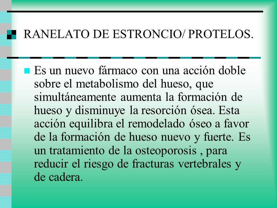 RANELATO DE ESTRONCIO/ PROTELOS.