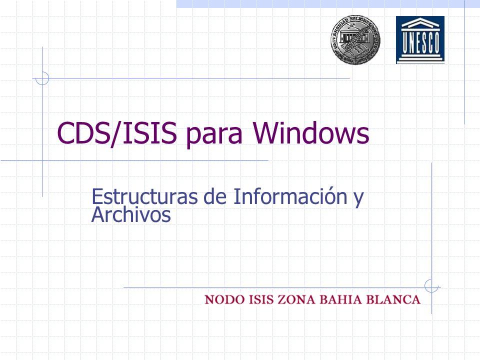 Estructuras de Información y Archivos