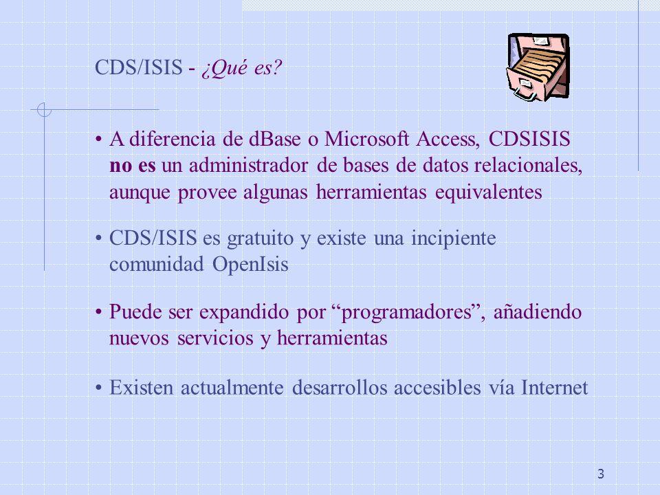 CDS/ISIS - ¿Qué es