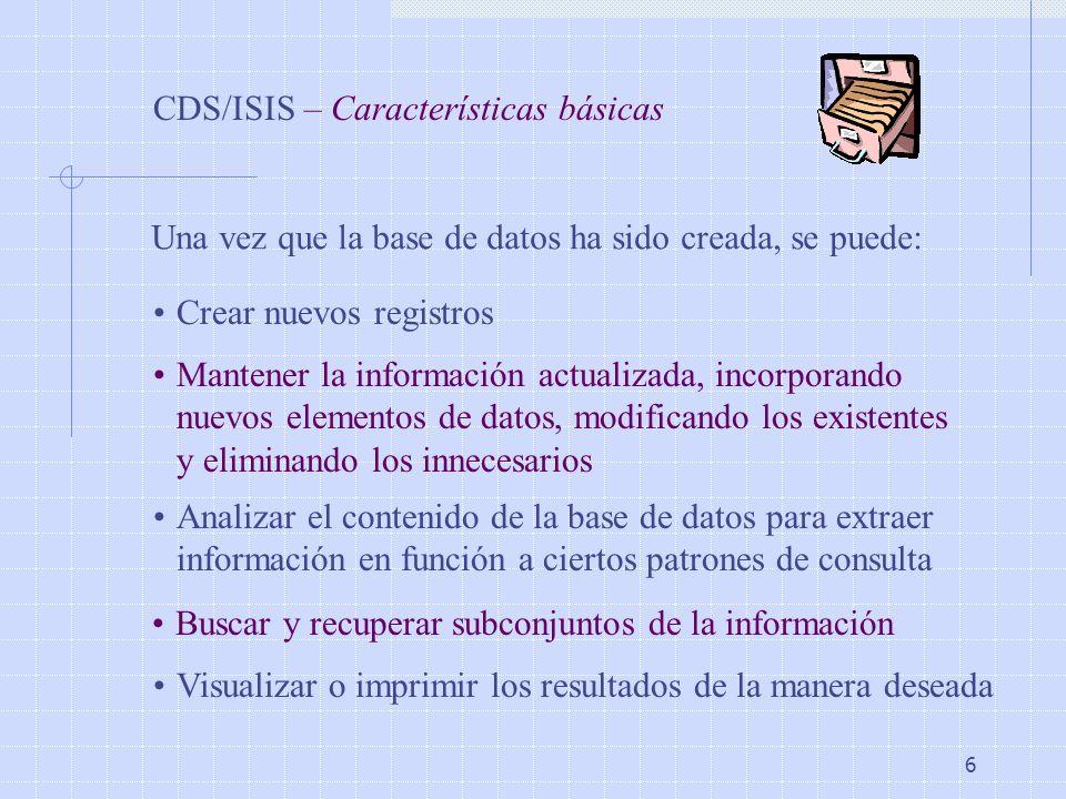 CDS/ISIS – Características básicas