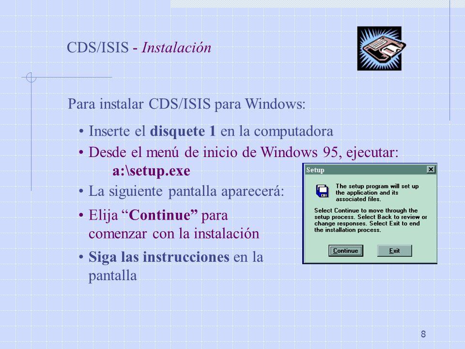 CDS/ISIS - Instalación