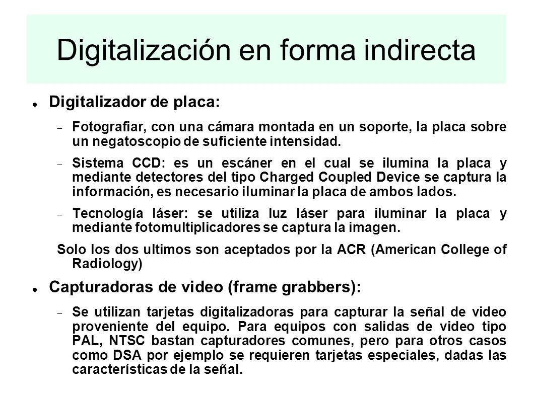 Digitalización en forma indirecta