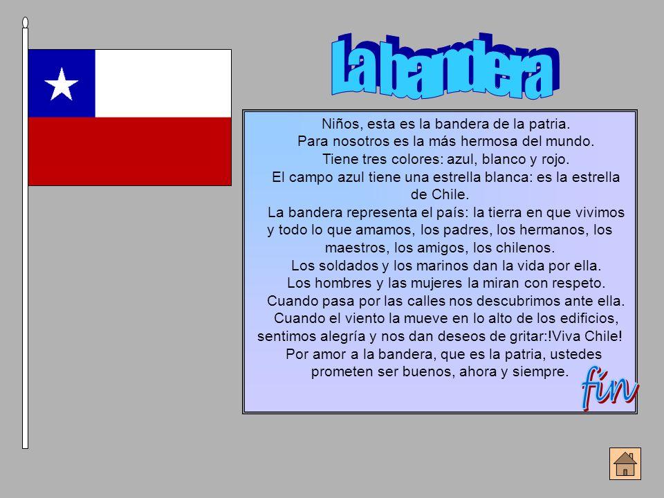 La bandera fin Niños, esta es la bandera de la patria.