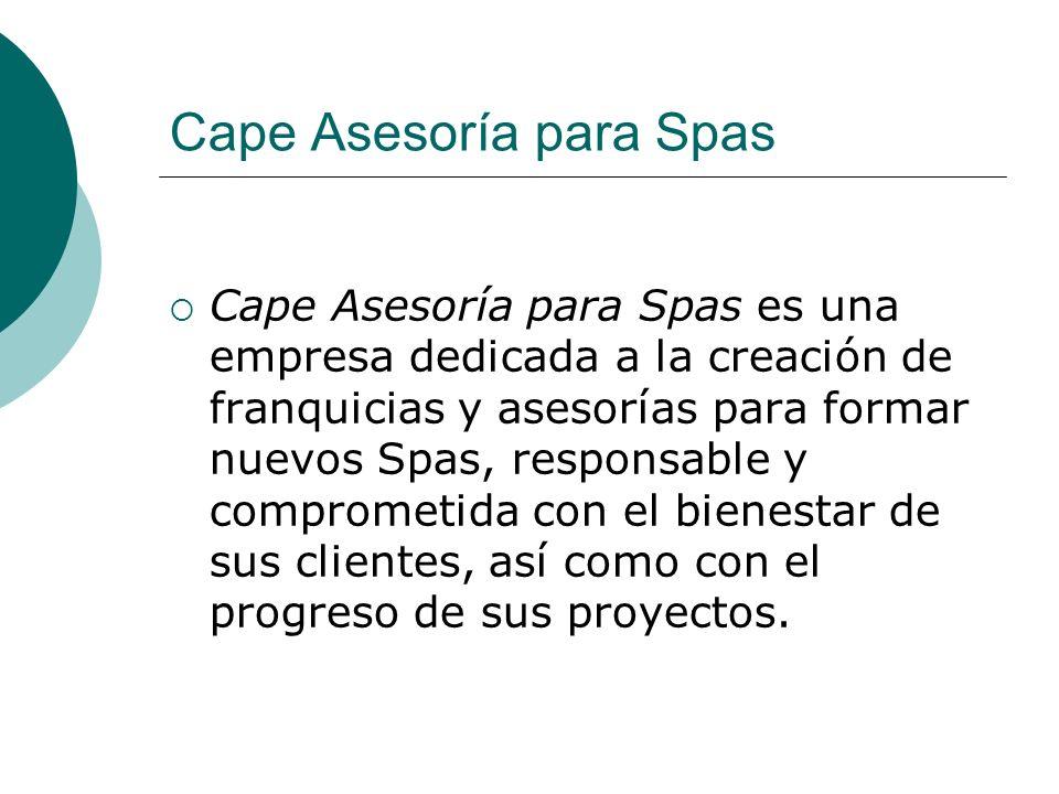 Cape Asesoría para Spas