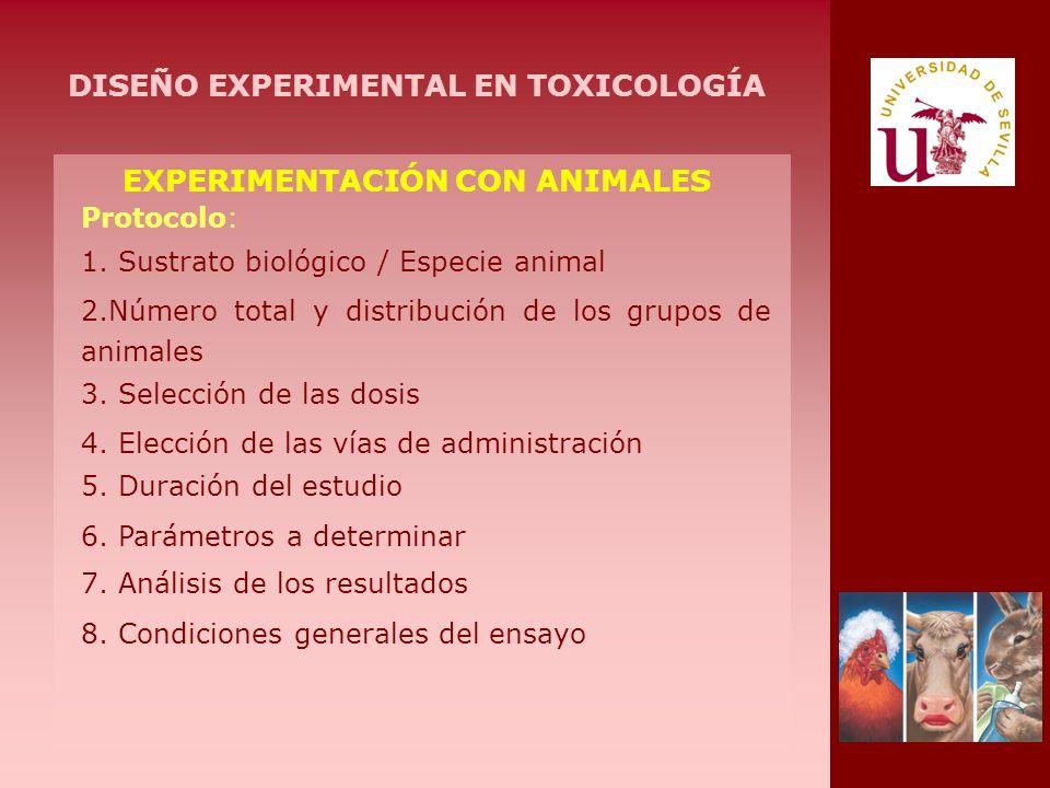 DISEÑO EXPERIMENTAL EN TOXICOLOGÍA EXPERIMENTACIÓN CON ANIMALES
