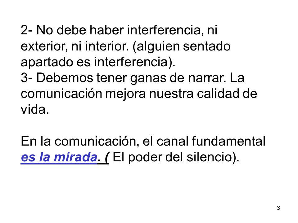 2- No debe haber interferencia, ni exterior, ni interior