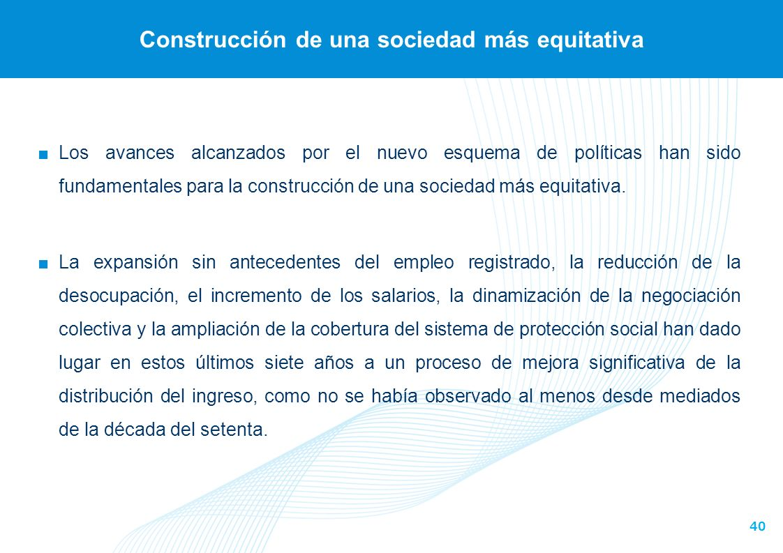 Construcción de una sociedad más equitativa