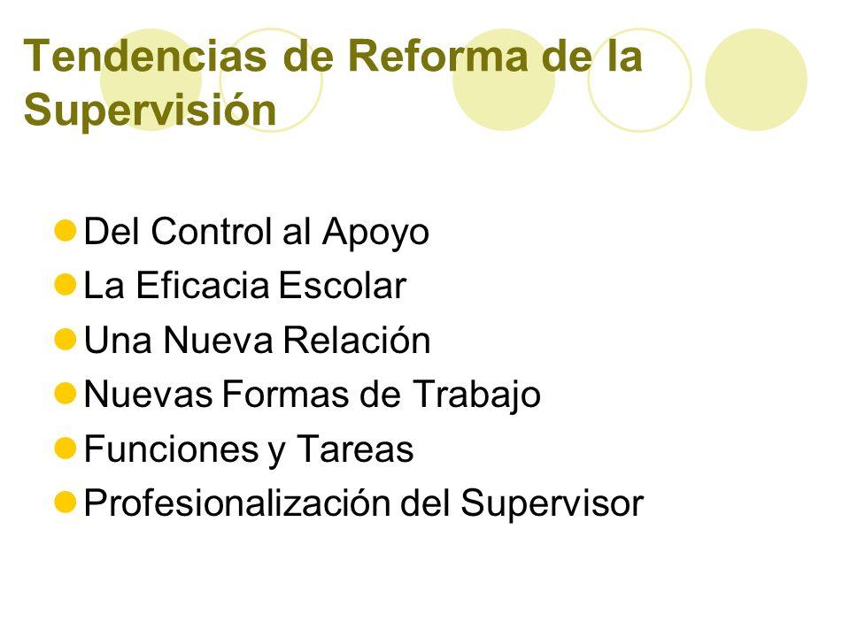 Tendencias de Reforma de la Supervisión