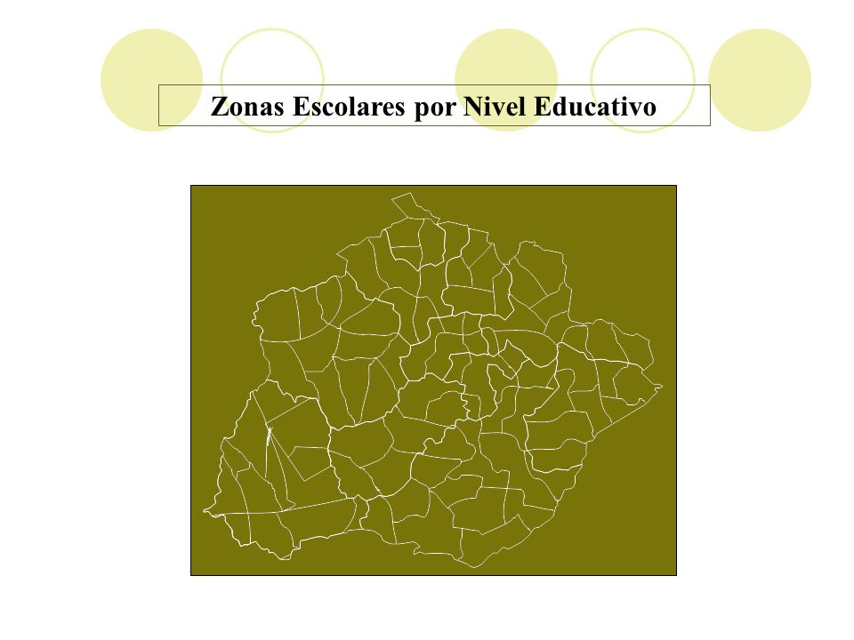 Zonas Escolares por Nivel Educativo
