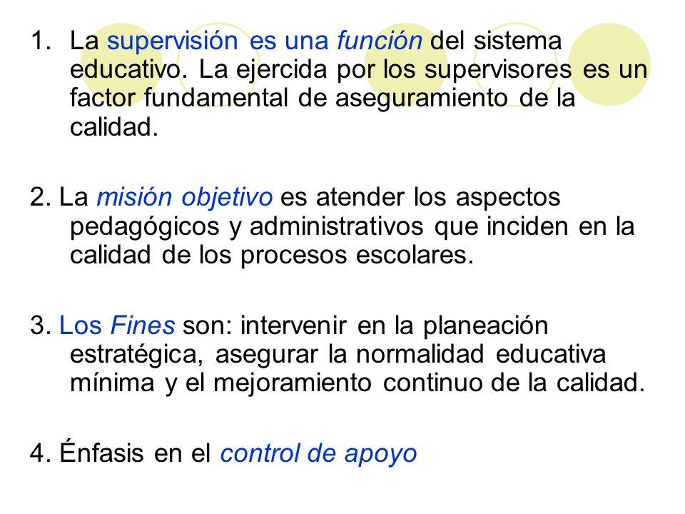 La supervisión es una función del sistema educativo