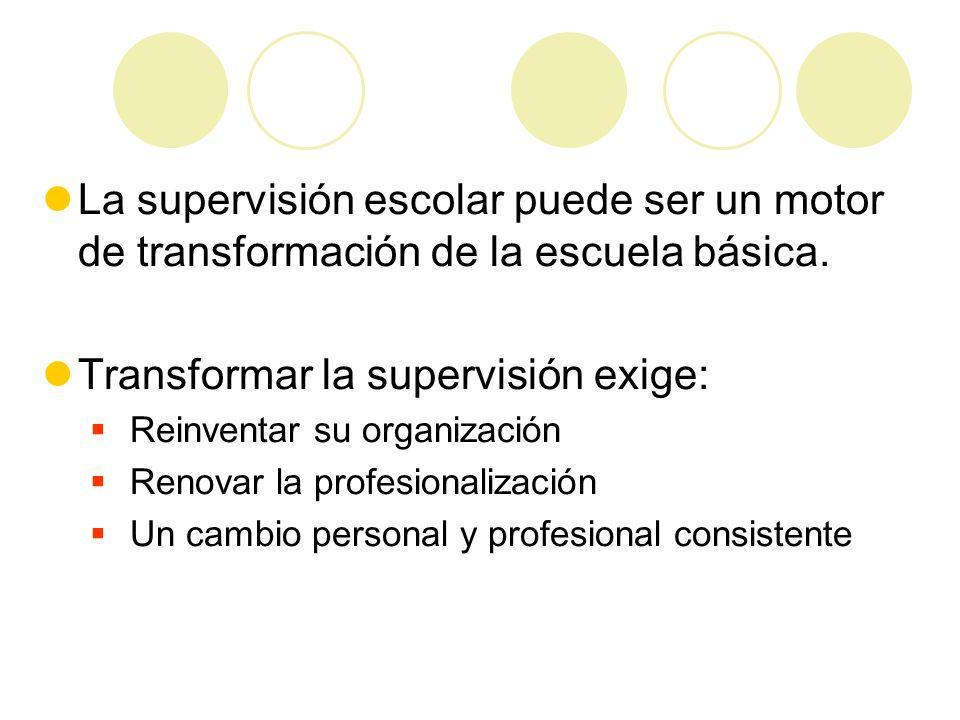 Transformar la supervisión exige: