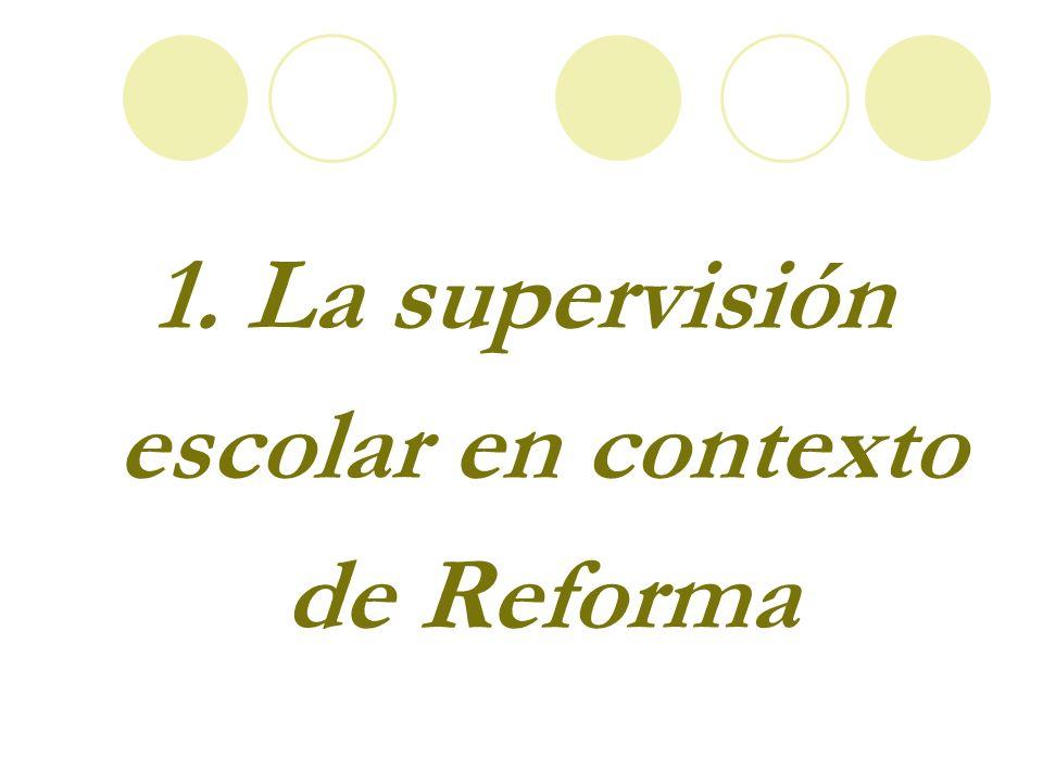 1. La supervisión escolar en contexto de Reforma