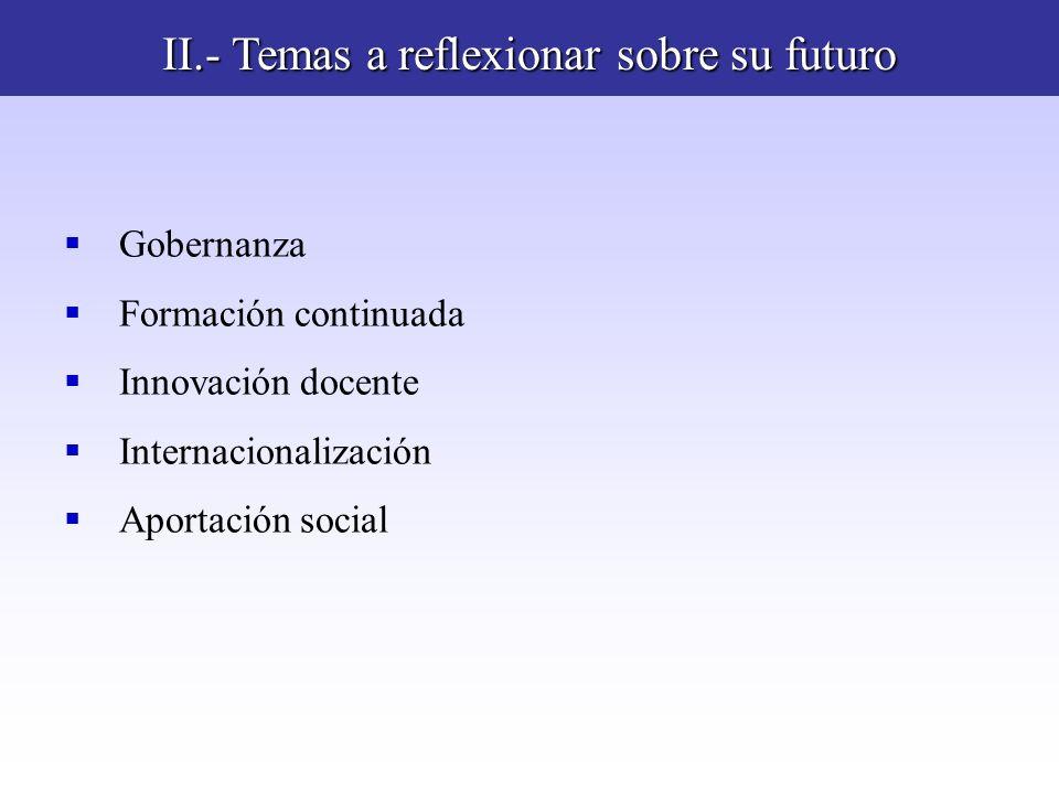II.- Temas a reflexionar sobre su futuro