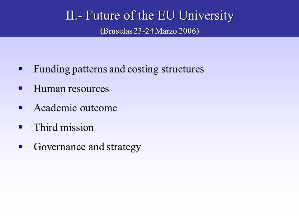 II.- Future of the EU University