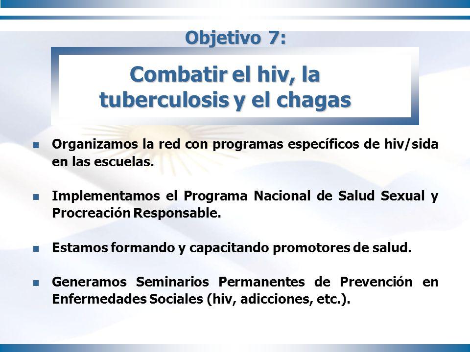 Combatir el hiv, la tuberculosis y el chagas