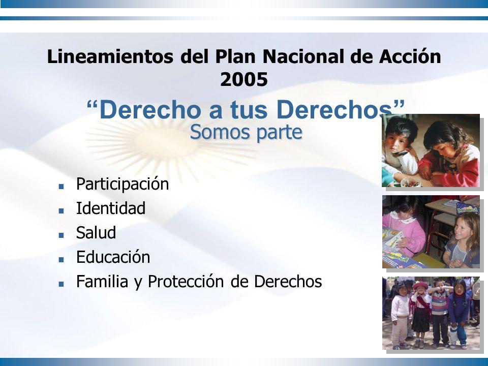 Lineamientos del Plan Nacional de Acción 2005