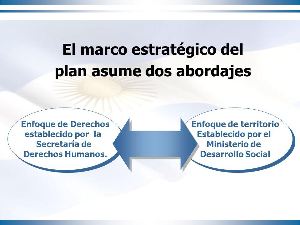 El marco estratégico del plan asume dos abordajes