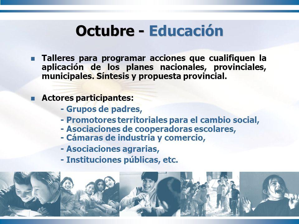 Octubre - Educación