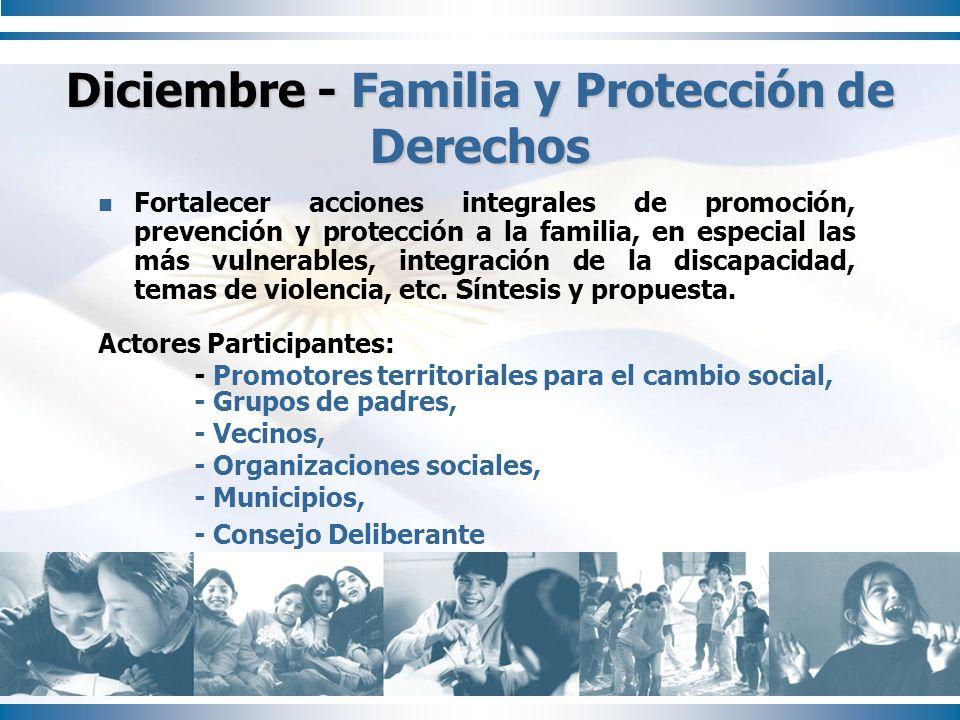Diciembre - Familia y Protección de Derechos