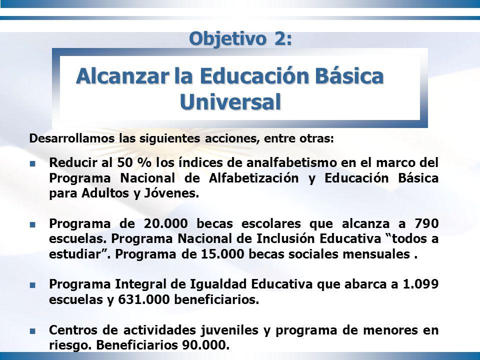 Alcanzar la Educación Básica Universal