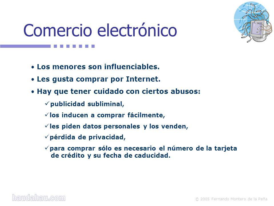 Comercio electrónico Los menores son influenciables.