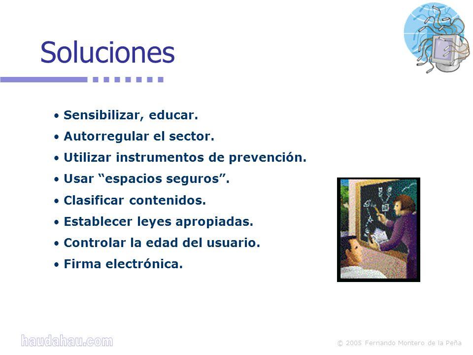 Soluciones Sensibilizar, educar. Autorregular el sector.