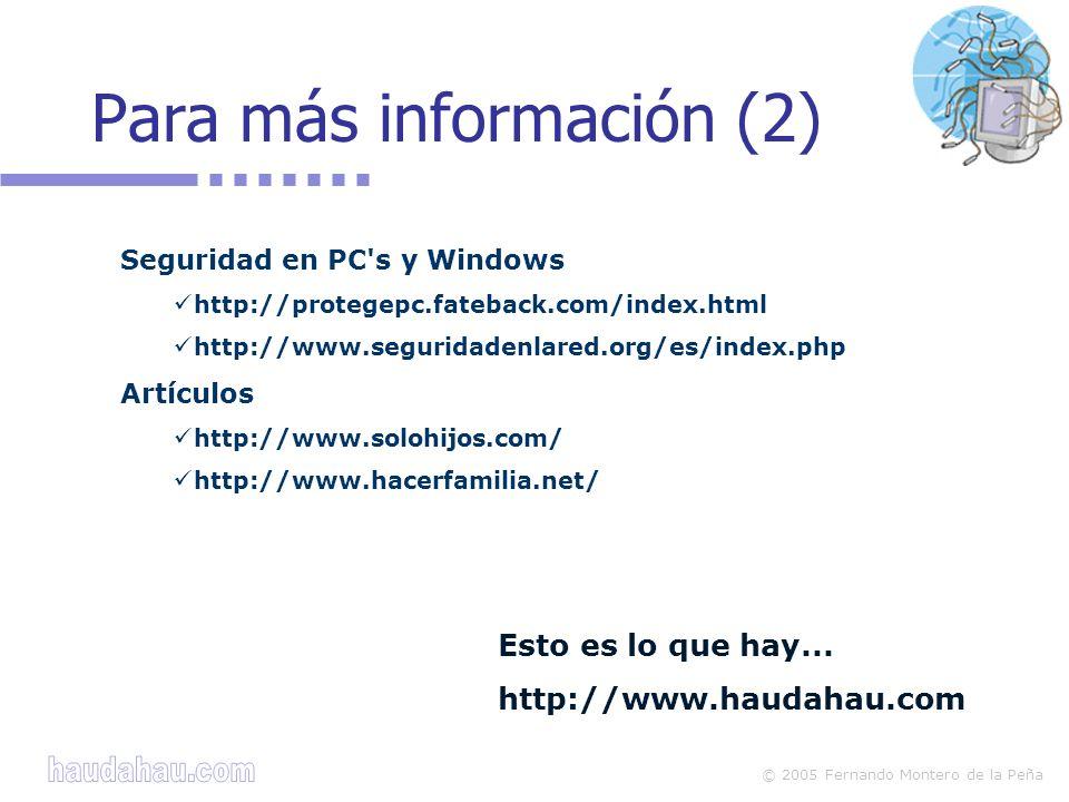Para más información (2)