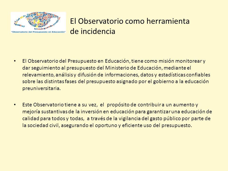 El Observatorio como herramienta de incidencia