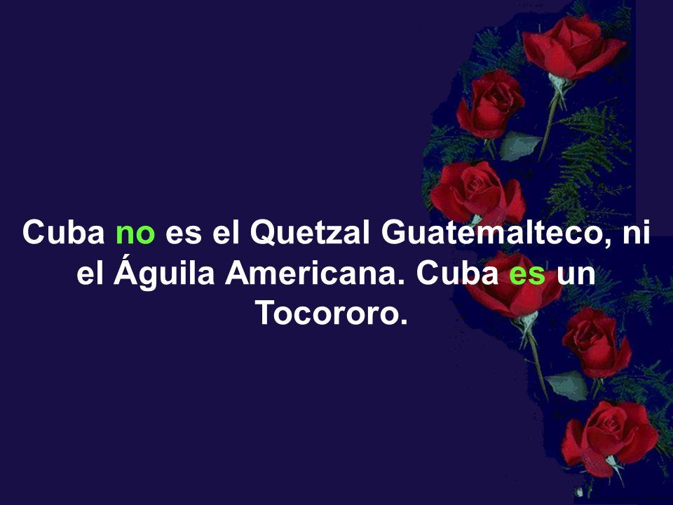 Cuba no es el Quetzal Guatemalteco, ni el Águila Americana