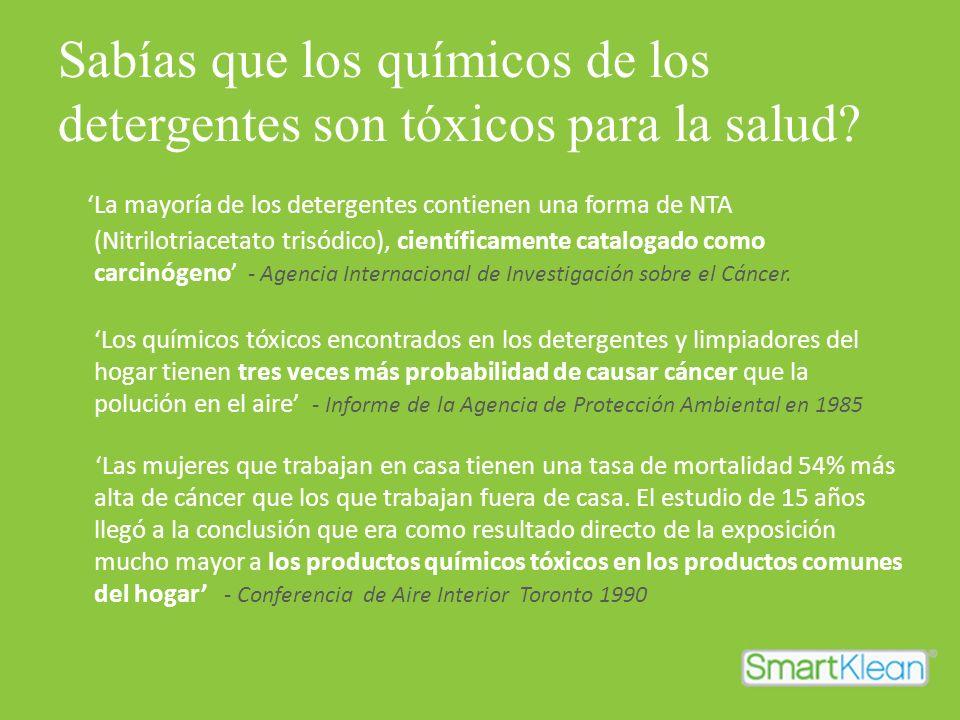 Sabías que los químicos de los detergentes son tóxicos para la salud