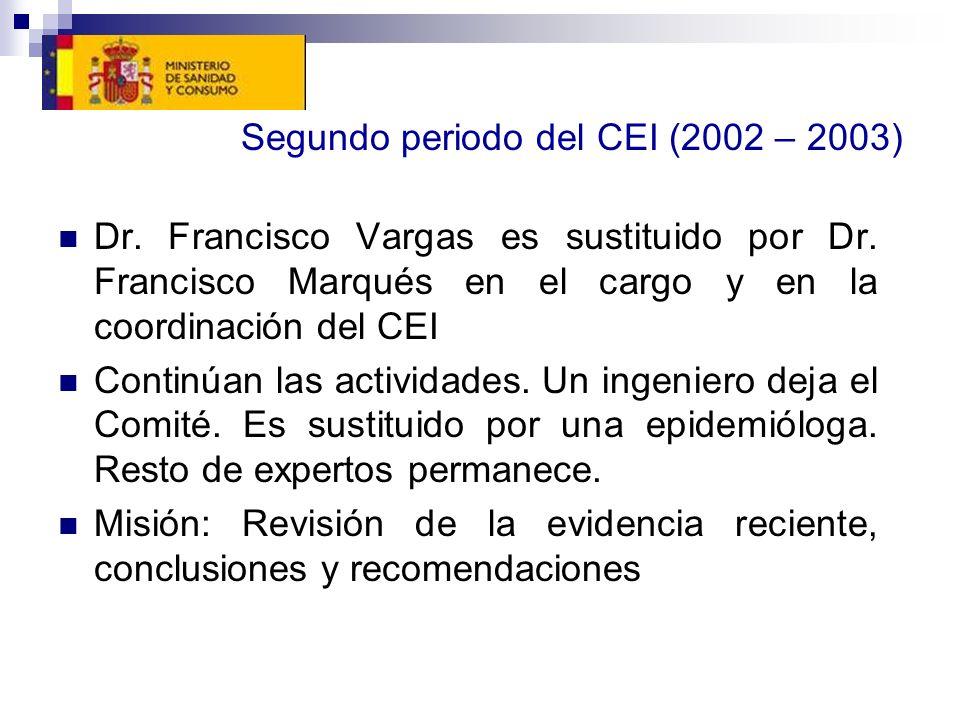 Segundo periodo del CEI (2002 – 2003)