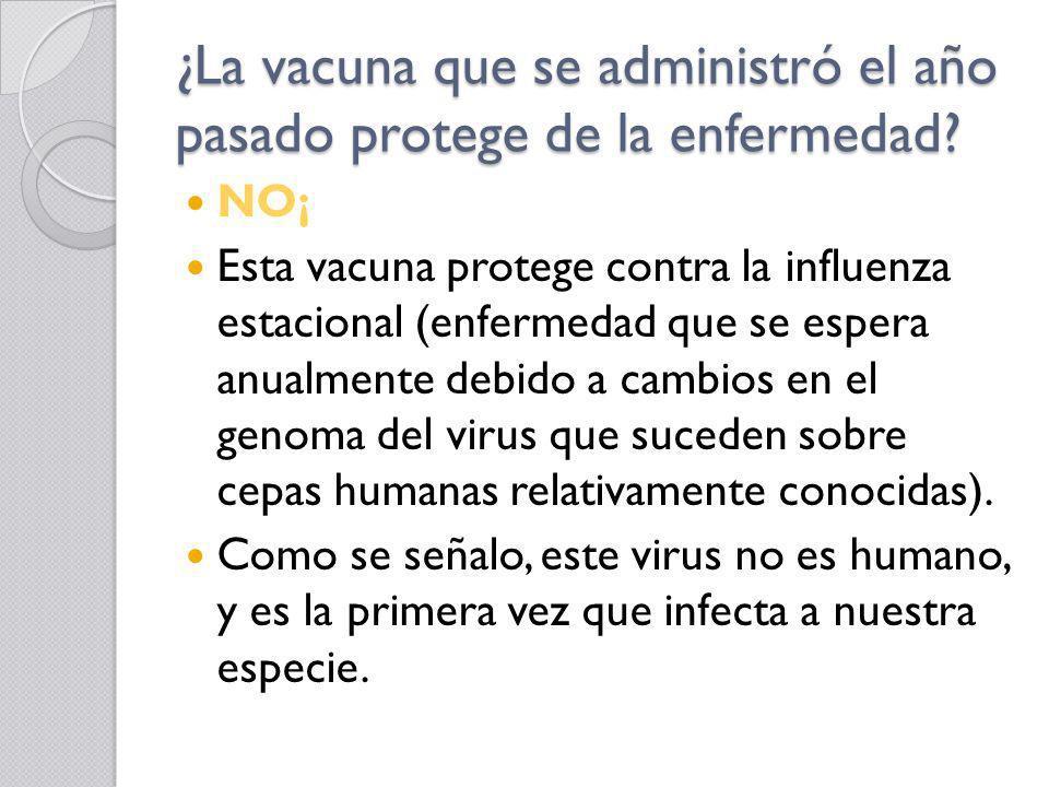 ¿La vacuna que se administró el año pasado protege de la enfermedad