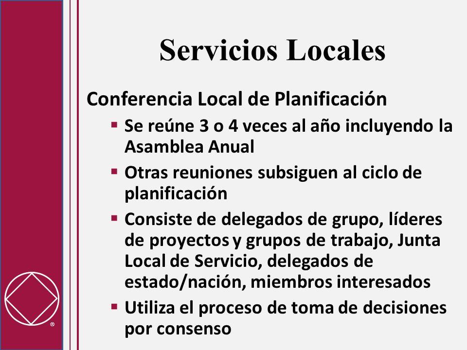 Servicios Locales Conferencia Local de Planificación