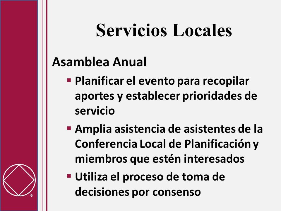 Servicios Locales Asamblea Anual