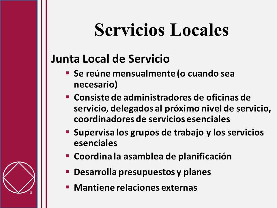 Servicios Locales Junta Local de Servicio