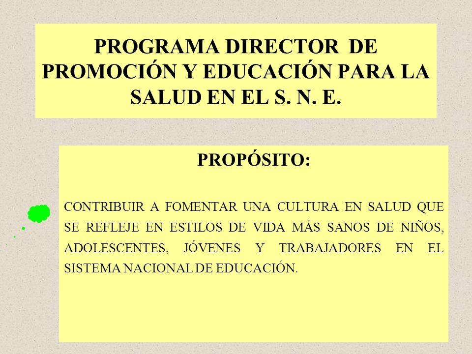 PROGRAMA DIRECTOR DE PROMOCIÓN Y EDUCACIÓN PARA LA SALUD EN EL S. N. E.