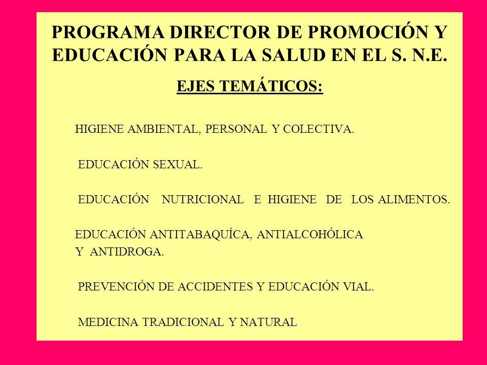 PROGRAMA DIRECTOR DE PROMOCIÓN Y EDUCACIÓN PARA LA SALUD EN EL S. N.E.